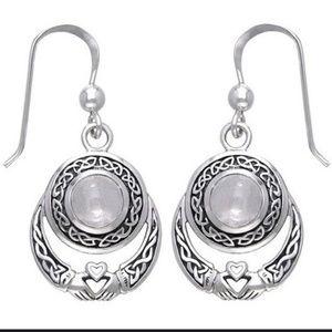 Antique Style 925 Moonstone Earrings